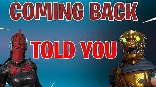 ???? *NEW*  TOLD YOU SO | Red Knight RETURNING BATTLE HOUND RETURNED | NO OG Skins