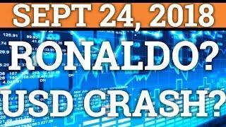 USD CRASH TO CAUSE CRYPTOCURRENCY MOON? RONALDO + CRYPTOCURRENCY? BITCOIN TRADING, PRICE + NEWS 2018