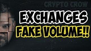 Fake Exchange Volume?!! - Wash Trading - BTI - OKEX - HUOBI - HITBTC and others! HOLY COW ????