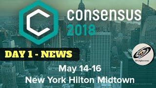 ???? Consensus: Day 1, Svariate news.. NYC e blockchain, Coinbase custody, Bitcoin smart contract..