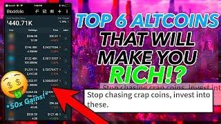 TOP 6 ALTCOINS That Will Make You RICH June 2018!? *50x Gains* Top 6 Cryptocurrencies to Invest 2018