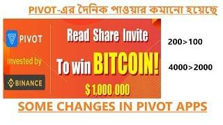Some New Changes in Pivot Android Apps. Daily bitcoin Bonus. Latest Earning Tricks. Earn BTC