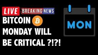 Monday Will Be Critical for Bitcoin (BTC)?! - Crypto Market Technical Analysis & Cryptocurrency News