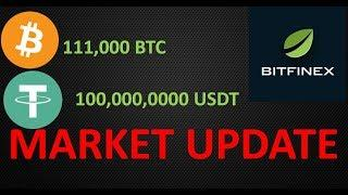 Market Update: 111,000 Bitcoin Move, 100 million Tether in to Bitfinex and Fake Volume