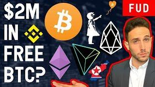 $2M BITCOIN PUZZLE? $30M PROPERTY ON ETHEREUM? TRON BINANCE BANKSY AIRSWAP CRYPTO NEWS