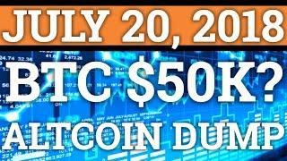 BITCOIN TO $5,000 or $50,000? ALTCOINS DUMPING? BTC PRICE PREDICTION + CRYPTOCURRENCY NEWS 2018