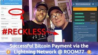1st Bitcoin Payment via Lightning Network at ROOM77 in Berlin: Video Proof