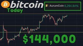 Bitcoin To $144,000 | AurumCoin Mooning On Coinmarketcap?! Hmmm...