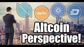 Altcoin Perspective: Ontology | Wax | Dash | Cardano [Cryptocurrency, Bitcoin, Altcoin News]