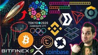 ICOs Coming To Bitcoin! $XRP Official Currency of 2020 Olympics? 0x on Coinbase? Binance Charity