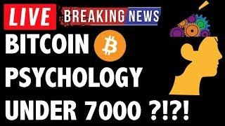 Bitcoin (BTC) Market Psychology Under 7000?! - Crypto Trading & Cryptocurrency Price News