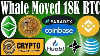 Whale: 18k BTC MOVED! - NEW COINS: Coinbase's DEX! - Crypto Hack: AT&T Sued $244mil