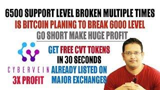 Is Bitcoin Planning to Break 6000 Support Level? Get FREE CVT Tokens 3x Profit Soon, Already listed.