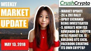 Weekly Update: Market Update / ZIL & ZRX Rally / Upbit / S. Korea / NYSE / Facebook Cryptocurrency