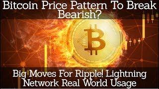 Bitcoin Price Pattern To Break Bearish? Big Moves For Ripple! Lightning Network Real World Usage