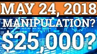 BITCOIN PRICE MANIPULATION? GOING TO $25000? VECHAIN VEN, ETHEREUM ETH PREDICTION + CRYPTO NEWS 2018