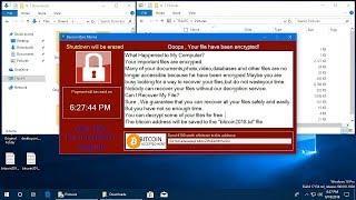 AppCheck Anti-Ransomware : BansomQare Manna Ransomware (.bitcoin) Block Video