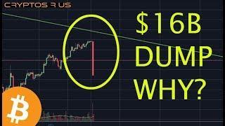Crypto Market Dumps $16 Billion WTF?? - Daily Bitcoin and Cryptocurrency News