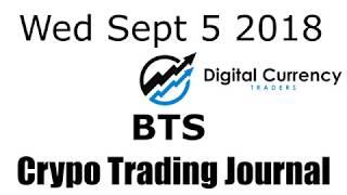 Bitshares Crypto Trading Journal Video - Sept 5 2018