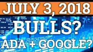 BULLS FINALLY HERE? CARDANO ADA + GOOGLE PARTNERSHIP? NEO, BITCOIN PRICE + CRYPTOCURRENCY NEWS 2018