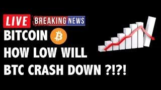 How Low Will Bitcoin (BTC) Crash Down?! - Crypto Market Technical Analysis & Cryptocurrency News
