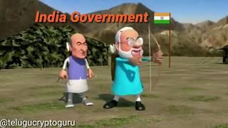 India Government on Bitcoin Funny Video Modi