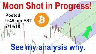 bitcoin analysis for July 14 2018 - BTC price prediction for 7-14-18 - moonshot!