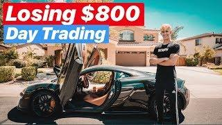 How I Lost $800 Day Trading | Ricky Gutierrez