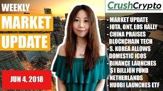 Weekly Update: Market Update / IOTA, ONT, EOS / China / S. Korea / Binance / Netherlands / Huobi