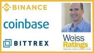 Binance Fiat Exchange - Coinbase Wall Street - Weiss Ratings Bittrex - Ben Horowitz Crypto & Dot-Com