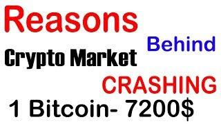 Reasons Behing Crypto Market Crashing Latest  - 1 Bitcoin Now 7200$ - Future of Bitcoin Prices.