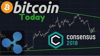 Bitcoin Up Or Down?   Consensus 2018   Ripple & Ethereum Technical Analysis [Bitcoin Today]