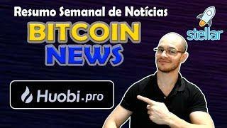 Bitcoin Escorrega, Stellar no Top5, Promoção Huobi e mais! Resumo de Notícias no Bitcoin News