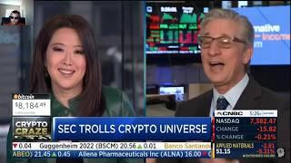 SEC Trolls Cryptocurrency Investors Hard!!!  | CNBC Fast Money