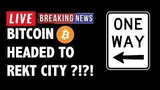 Is Bitcoin (BTC) Headed to Rekt City?! - Crypto Market Technical Analysis & Cryptocurrency News