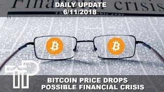 Bitcoin Price Drops, Possible Bull Run During Global Financial Crisis Soon? | Daily Update 6/11/2018
