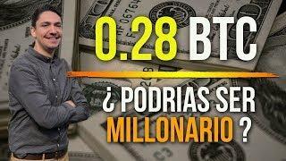 ???? Si tienes 0.28 #Bitcoin podrías ser millonario en el futuro ?