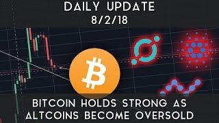 Daily Update (8/2/18) | Bitcoin holds strong as altcoins become oversold