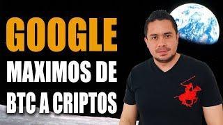 #Google máximos de #BITCOIN a #Criptomonedas en Rally