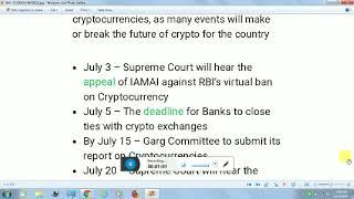 ????????24-06-12 || RBI || CRYPTOCURRENCY- IMPORTANT FOR EVERY CRYPTO INVESTOR- TRADER