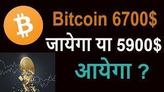 Bitcoin 6700$ जायेगा  या 5900$ तक  Down  आयेगा ?