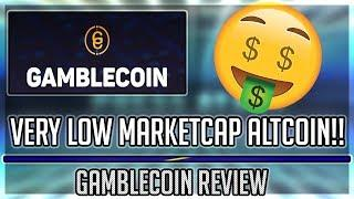 EXTREMELY LOW MARKETCAP ALTCOIN!! Gambling Cryptocurrency?! Gamblecoin Review!!!