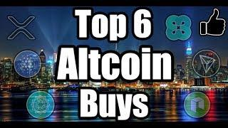 TOP 6 ALTCOINS TO BUY DURING THE DIP!!! Top Cryptocurrencies to Invest 2018! [Bitcoin News]