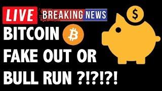Is This a Bitcoin (BTC) Bull Run or FAKE OUT?! - Crypto Trading Price Analysis & Cryptocurrency News
