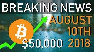WHY BITCOIN COULD HIT $50K.. | August 10th 2018 | SEC Bitcoin ETF Announcement | Black Rock