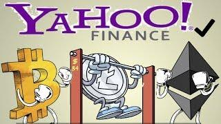 Yahoo Finance Supports Crypto | Bitcoin, Litecoin, Ethereum (Great News!)