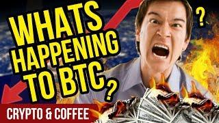 WHAT'S HAPPENING TO BITCOIN?! Why no moon? - CryptoCurrency Market News - Crypto Market Crash?