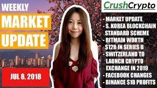 Weekly Update: Market Update / S. Korea / Bitmain / Switzerland / Facebook / Binance