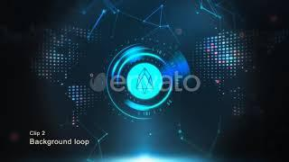 Cryptocurrency Background - EOS - After Effects Templates Project Files [Video Hive 2018]