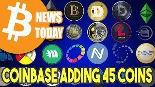 Coinbase Listing New Coins - All 45 Revealed! [Bitcoin News Today]